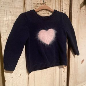 Old Navy pink heart sweater 12-18 Months